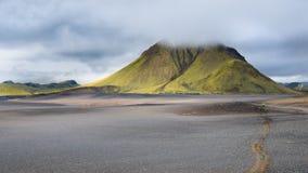 Misty Mountain, Fjallabak Nature Reserve, Iceland stock photography