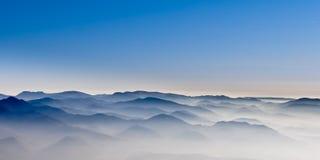 Misty mountain hills Stock Photo