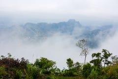 Misty mountain landscape Stock Photos