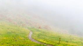 Misty mountain landscape Royalty Free Stock Image