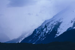 Misty Mountain Layers, Lutak Inlet, Haines Alaska Stock Photography