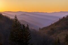 Misty Mountain Morning imagens de stock