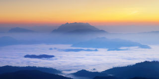 Misty Mountain at morning, Chaingmai, Thailand Stock Photos