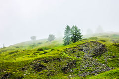 Misty mountain. S in the frence alpes Stock Photos