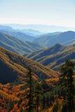 Misty mountain range Stock Photography