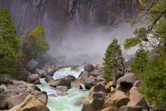 Misty Mountain river Stock Photo