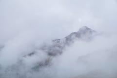 Misty mountain scene in Dolomites mountain Royalty Free Stock Photography