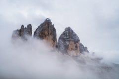 Misty mountain scene in Dolomites mountain Stock Photography