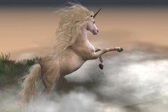 Misty Mountain Unicorn Royalty Free Stock Photo