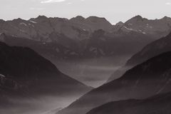 Misty Mountain Valley Royalty Free Stock Images