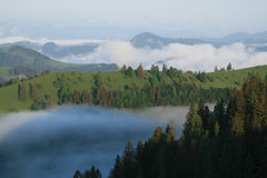 Misty mountains Royalty Free Stock Photo