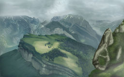 Misty Mountains Fotografia Stock Libera da Diritti