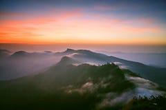 Misty On The Mountains Stockbild