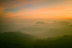 Misty On The Mountains Stockfotografie