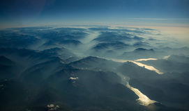 Misty Mountains Stock Photography