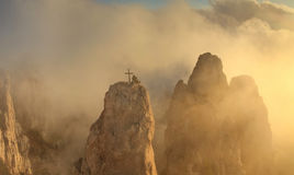Misty Mountains At Dawn In The Sun Royalty Free Stock Photo