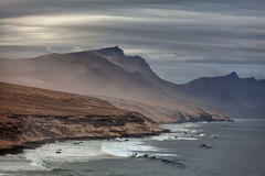 Misty mountains on the Fuerteventura Canary Islands Stock Image