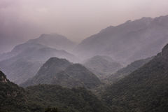 Misty Mountains from the Great Wall Stock Photography
