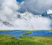 Misty mountains landscape Royalty Free Stock Image