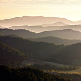 Misty mountains landscape Royalty Free Stock Image
