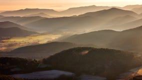 Misty mountains landscape Stock Photography