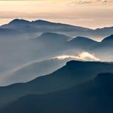 Misty mountains landscape Royalty Free Stock Photography