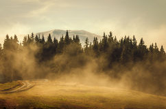 Misty mountains Stock Photos