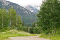 Misty mountains near Silverton, Colorado Royalty Free Stock Images