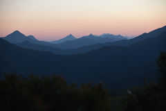 Misty Mountains Royalty Free Stock Photography