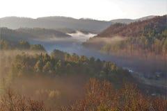 Misty Mountains Sunrise royalty free stock photography