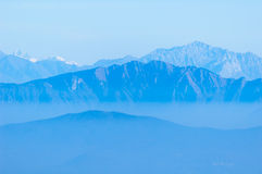Misty mountains Stock Images