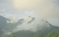 Misty Mountains of Yunhe County China Royalty Free Stock Photography