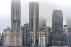 Misty New York Cityscape in Background. Stock Photography