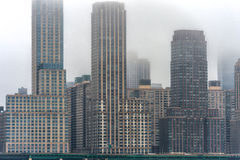 Misty New York Cityscape in Background. Stock Image