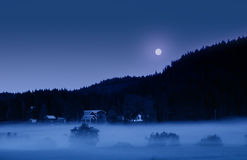 Misty Night on Midsummer Stock Photos