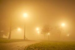 Misty park Stock Photo