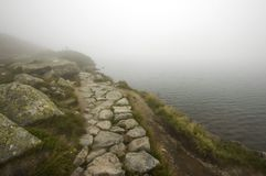 Misty pathway Royalty Free Stock Images