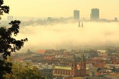 Misty Prague Stock Photography