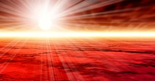 Misty rays Royalty Free Stock Images