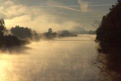 Misty River photo stock