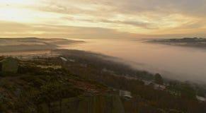 Misty River Lizenzfreie Stockfotografie