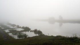 Misty river Stock Photos