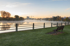 Misty River in the morning Royalty Free Stock Images