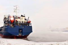 Misty River Neva Stockfotografie