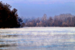 Misty river Stock Photos