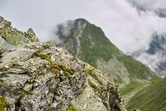 Misty rocky mountains Royalty Free Stock Image