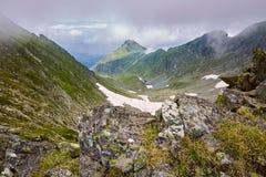 Misty rocky mountains Stock Photography