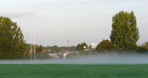 Misty Rugby Field Stock Image