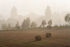 Misty rural scene Stock Photos