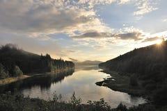 misty s sestausee τοπίων Στοκ εικόνες με δικαίωμα ελεύθερης χρήσης